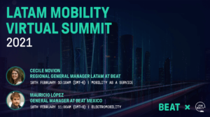 Beat participation and speakers at Latam Mobility Virtual Summit 2021