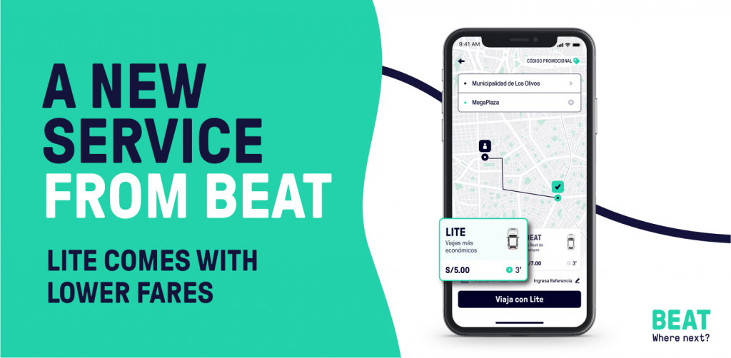 Beat Lite is a low-cost service designed to provide affordable transportation at a lower price, with older car models.