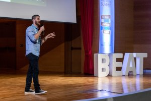 Thanassis Bantios, VP of Engineering at Beat, presented how Agile is in Beat's DNA, during Agile Summit 2019 Greece