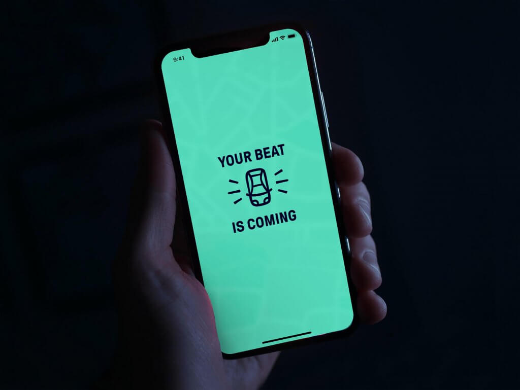 Your Beat is coming: mobile screen for passengers