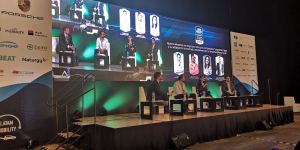 Beat participating in a panel discussion during Mobility Summit Latam 2020 in Mexico City